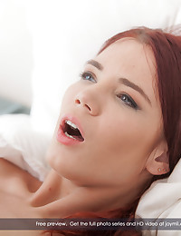 Our stud of the moment has hurt himself skiing and is having some R&R in the bed. When the nurse comes in, his spirits...and a lot more...perk up. She's a gorgeous redhead who seems interested in various forms of alternative sensual medicine. So when she sits down and offers a massage, he knows where to direct her hands. Soon she lifts off his underwear and begins pleasuring his cock. Before long, she's naked on top of him and the two are going hard at it. Every position is indulged in, as this sexy nurse will spare nothing to bring her patient to health. If you could use some sexual healing, look no farther than this amazing film. It will have you feeling perfect in no time.