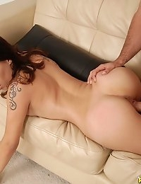 horny amateur babe suck big cock and stuffs it in her tight pussy hole