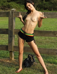 ON THE FENCE with Leighlani Red, Tamara Jade - ALS Scan